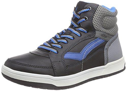 s.Oliver 46102 Jungen Hohe Sneakers Schwarz (Black 001)