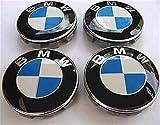 Set von 4 BMW Alufelgen Center Radkappen 68mm Abdeckung Carbon- Rad -Abzeichen (68mm)