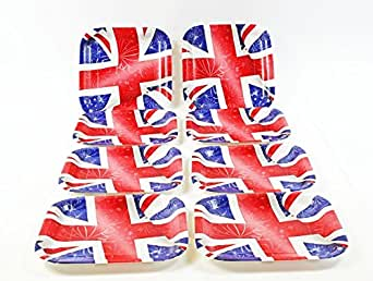 Union Jack 8 Pack Square Paper Plates Royal Wedding Football Party Tableware GB  sc 1 st  Amazon UK & Union Jack 8 Pack Square Paper Plates Royal Wedding Football Party ...