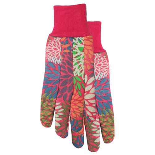 Garden Odyssey 520b1d-l-00Dot Print Floral Jersey Knitt Manschette Handschuh (Dot Jersey Print)