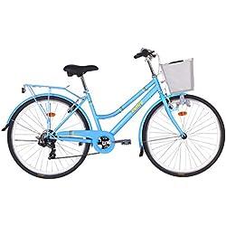 Monty Vintage Bicicleta de Ciudad, Unisex Adulto, Azul, Talla Única