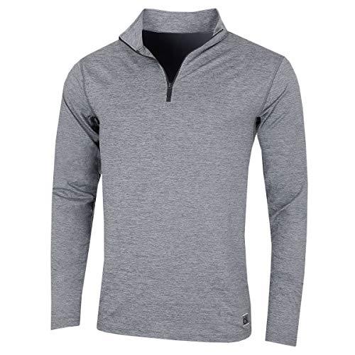 Calvin Klein Golf Herren Brooklyn 1/2 Zip-Abzeichen Pullover - Silber - L Golf Herren Pullover
