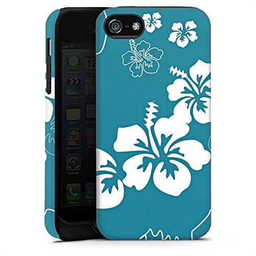 Apple iPhone 5 Housse Étui Silicone Coque Protection Fleurs Fleurs Été Cas Tough terne