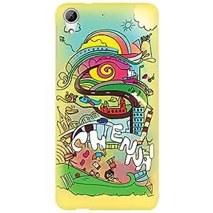 URBAN KOLOURS Original Designer Printed Hard Case Back Cover for HTC Desire 626 (Singara Chennai)