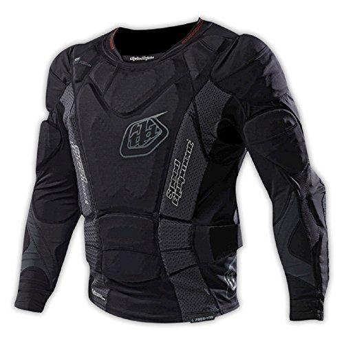 Troy Lee heißem Wetter - Jugend Langarm Shirt UPL 7855 (2015), Schwarz schwarz schwarz M (Jugend-schulter-pad)