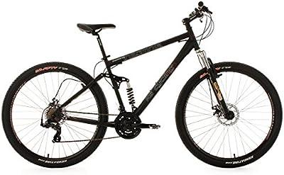 KS Cycling Insomnia - Bicicleta de montaña de doble suspensión, color negro, ruedas 29