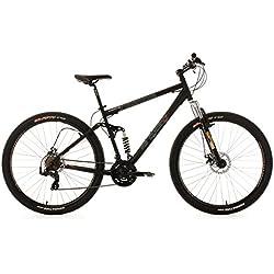 "KS Cycling Insomnia - Bicicleta de montaña de doble suspensión, color negro, ruedas 29"", cuadro 51 cm"