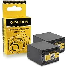 2x Batería NP-FV100 / NP-FV90 para Sony DCR-SR15E   DCR-SR37E   DCR-SR38E   DCR-SR47E   DCR-SR48E   DCR-SR57E   DCR-SR58E   DCR-SR67E   DCR-SR68E   DCR-SR77E   DCR-SR78E   DCR-SR87E   DCR-SR88E
