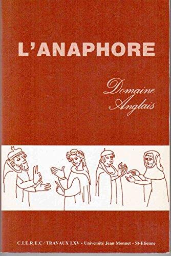 L' anaphore - Domaine anglais