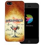 dessana Cocktail Rezepte Transparente Silikon TPU Schutzhülle 0,7mm Dünne Handy Tasche Soft Case für Apple iPhone 5/5S/SE Cosmopolitan