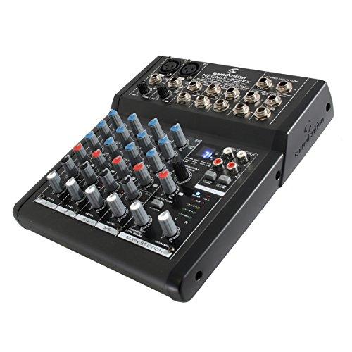 Soundsation Neomix 202 FX - mixer 6 canali (2 stereo) con effetti per studio, karaoke, ecc..
