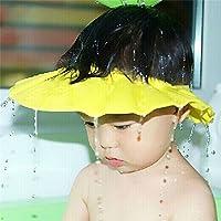 maltonyo17amarillo bebé niño baño de ducha de baño proteger tapa sombrero accesorios