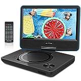 WONNIE 11.5' Lecteur DVD Portable avec écran Rotatif de 9,5' à 270°,Carte SD et Prise USB avec Charge directe Formats/RMVB/AVI / MP3 / JPEG, Parfait pour Enfants (Bleu)