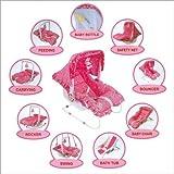 #5: Jaz Deals 9 in 1 Baby Carry Cot [ pink ]