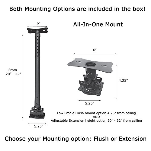 Visual Apex av819-a All-in-One Universal Beamer Deckenhalterung Halterung Video-flush Mount
