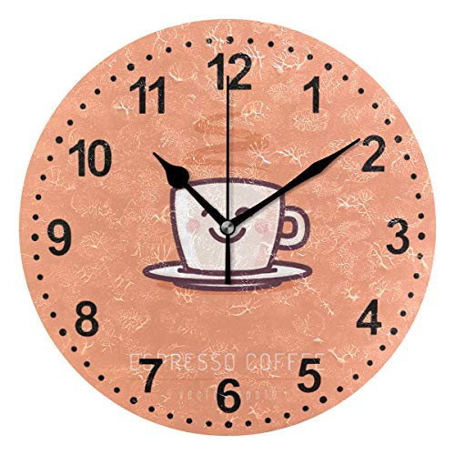 Wanduhr rund Coffee