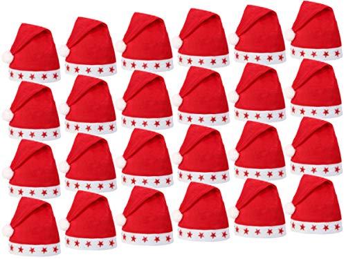 Alsino Blink Led Weihnachtsmützen Weihnachtsmannmützen Nikolausmützen Paket 60 Stück Set (Großhandel Spielzeug Blinkende)