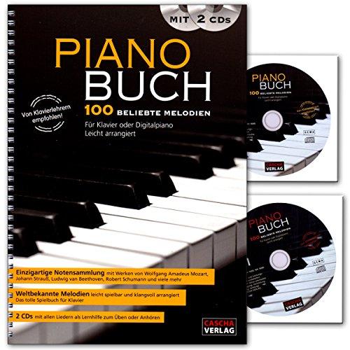 Piano Buch - 100 schönsten Melodien für Klavier oder Digitalpiano - arrangiert von Peter Bachmann - Buch mit 2 CDs - von Klavierlehrern empfohlen