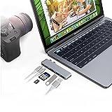elementdigital Dual USB C Adapter Splitter Hub USB 3.1der U89C Thunderbolt 3PD Port, USB 3.0zu USB, SD- und Micro-SD-Kartenleser Adapter-Konverter für Macbook Pro 1338,1cm