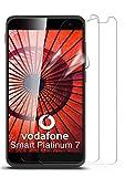 moex 2X Vodafone Smart Platinum 7 | Schutzfolie Klar Bildschirm Schutz [Crystal-Clear] Screen Protector Display Handy-Folie Dünn Bildschirmschutz-Folie für Vodafone Smart Platinum 7 Bildschirmfolie
