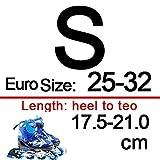 XIAOYUTOU Blinkende Inlineskates Schuhe for Kinder Original Inlineskate verstellbare Slalom-Quad-Skates patines en Linea gut wie SEBA IA69