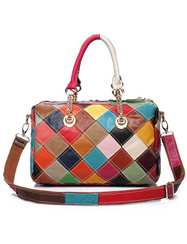 Aidonger da donna borsa in pelle multi colore borsa a spalla, Multifarbe-28 (multicolore) - BB-28 Multifarbe-28