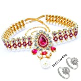 #3: Pcm Kamar Bandh Gold Plated Belly Hips Chain Kamarbandh For Women