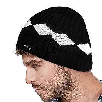 Knotyy Men's Cap (KNTY-CAP-C17_Black Diamond_Free Size)