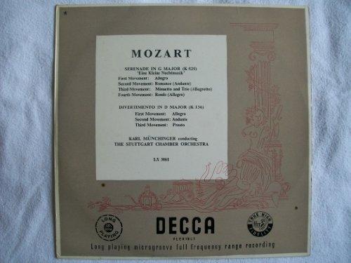 """LX 3061 Mozart Eine Klein Nachtmusik/Divertimento Stuttgart CO Munchinger 10"""""""