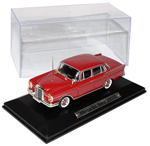 Mercedes-Benz S-Klasse 220SE Limousine Rot W111 1959-1968 1/43 Atlas Modell Auto