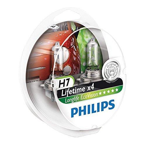 Philips 12972LLECOS2 LongLife EcoVision - Bombillas para faros delanteros (H7, 2 unidades)