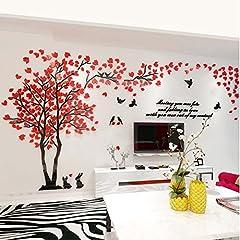 Idea Regalo - Alicemall 3D Adesivi Murali Wall Sticker Forma Albero Adesivi da Parete in Acrilico Foresta con Multicolore Foglie (Stile 8)