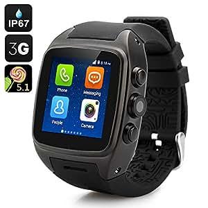 High-Tech Place iMacwear SPARTA M7 - Smart Watch téléphone / IP67 / Écran tactile 1.54 pouces / Android 4.4 / CPU Dual Core / 3G / Noir*