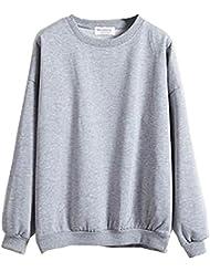 KINDOYO Sweat-shirt à manches longues pour femmes Pull à Tops
