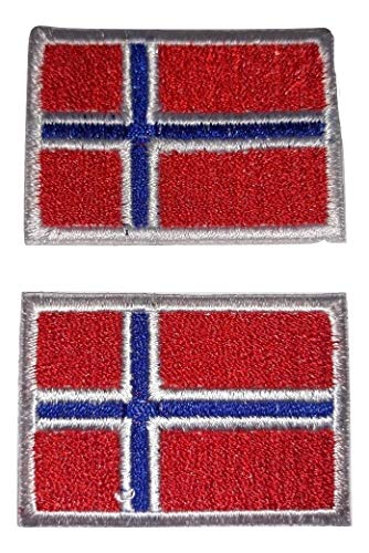 b2see Aufnäher/Patch/Applikation Landes/National Fahne/Flagge Banner/Abzeichen/Emblem/Wimpel gestickt/Bestickt Norwegen (Land Flagge Banner)
