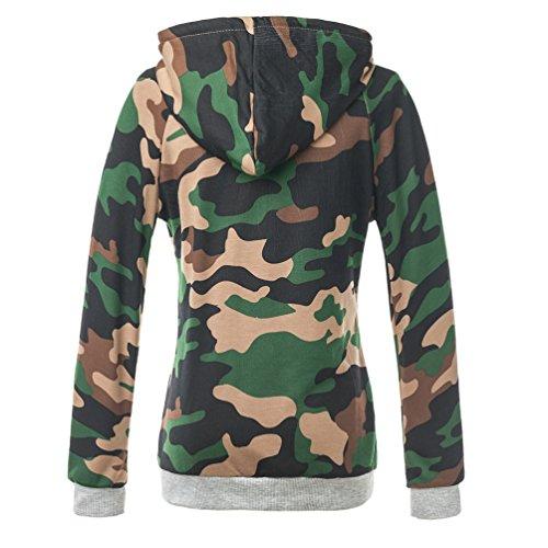YiLianDa Donna Felpa con Cappuccio Maniche Lunghe Cappuccio Sweatshirt Hoodies Come immagine 8