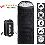 Fundango Sleeping Bag Adults/Kids Lightweight Envelope/Mummy Compact Waterproof Portable Summer Cool Weather Season