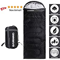 FUNDANGO Large Sleeping Bag, Single 3-4 Season Waterproof Sleeping Bags for Adults and for Kids - Envelope Compact, Lightweight, Camping Hiking,Backpacking Warm Sleeping Bag with Compressor Bagpacking Warm Sleeping Bag with Compressor Bag 13
