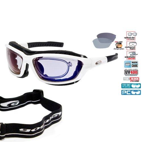 Verglasbare Brillenträger RX Multisportbrille Skibrille Sportbrille + polarisierende Wechselgläser + Band