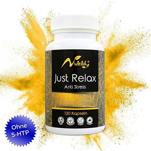 ANTI STRESS von nutritify JUST RELAX - 120 rezeptfreie Kapseln als natürlicher Stimmungsaufheller...