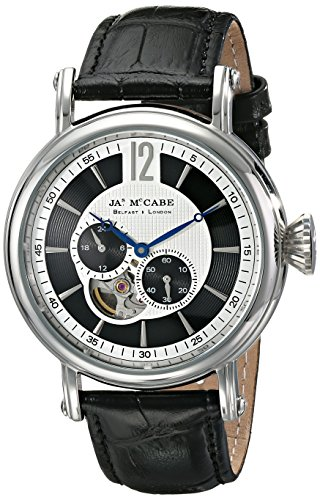James McCabe Men's JM-1007-01 Lurgan Analog Display Automatic Self Wind Black Watch