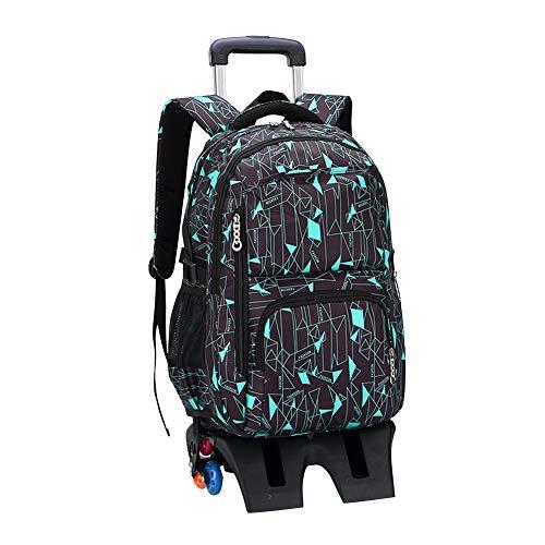 sack Kinderrucksäcke - Junge Mädchen Rollen Rucksäcke Rolling Schultaschen Schulranzen Taschen Koffer Schultrolley Sechs Rädern Tasche Abnehmbar ()