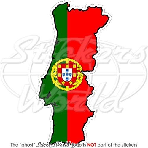 Portugal Portugais map-flag 14 cm (140 mm) Bumper Sticker en vinyle, en