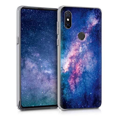 kwmobile Funda para Xiaomi Mi Mix 3 - Carcasa [Trasera] Protectora para móvil - Cover Duro con diseño de Estrellas en la Galaxia