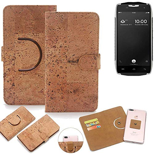 K-S-Trade Schutz Hülle für Doogee T5 Handyhülle Kork Handy Tasche Korkhülle Schutzhülle Handytasche Wallet Case Walletcase Flip Cover Smartphone