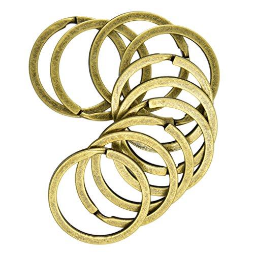 FLAMEER 10er Set Federringe Spaltringe Ringe Ösen Biegeringe für Armband Halskette - 10pcs 32mm