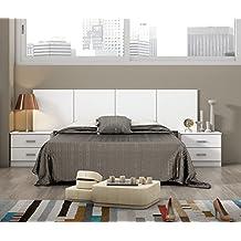 HOGAR24 Dormitorio HABITACION DE Matrimonio Smarty: CABECERO + 2 MESILLAS Blanco