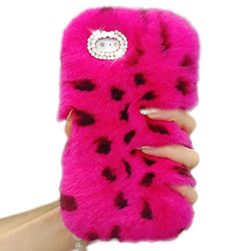 iPhone 8 Cover, iPhone 8 / iPhone 7 Hülle, Sunroyal Luxus Crystal Winter warme flauschige Villi Pelz Plüsch Wolle Bling Skin Schutzhülle Case für iPhone 8 / iPhone 7 4,7 Zoll Handyhülle mit Fuchs Must Farbe 15