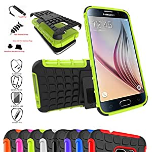 Galaxy S7 Case,Mama Mouth Shockproof Heavy Duty Combo Hybrid Rugged Dual Layer Grip Cover with Kickstand For Samsung Galaxy S7 SM-G930F Smartphone 2016(With 4 in 1 Free Gift Packaged),Green