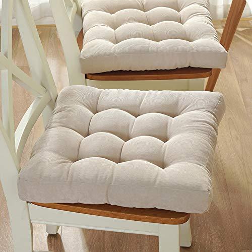 F-LFJBK Quadratische Sitzkissen,Thicken Corduroy Lounge Dining Chair Sitz Auflage,autositz Matte Tatami Futon Butt Kissen Taille Auflage Dekokissen -l 45x45cm(18x18inch)